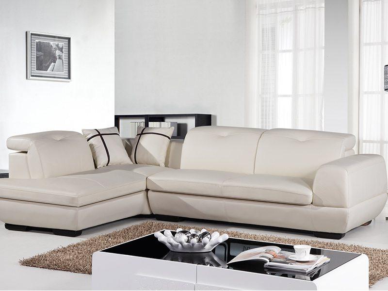 利亞L型設計皮沙發