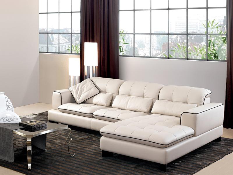 貝多芬時尚設計L型皮沙發