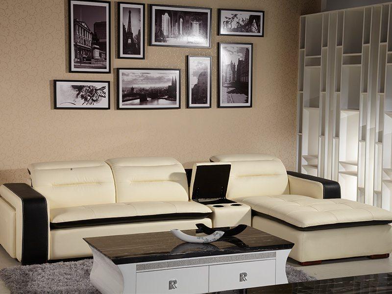 首席L型精緻滾邊設計皮沙發
