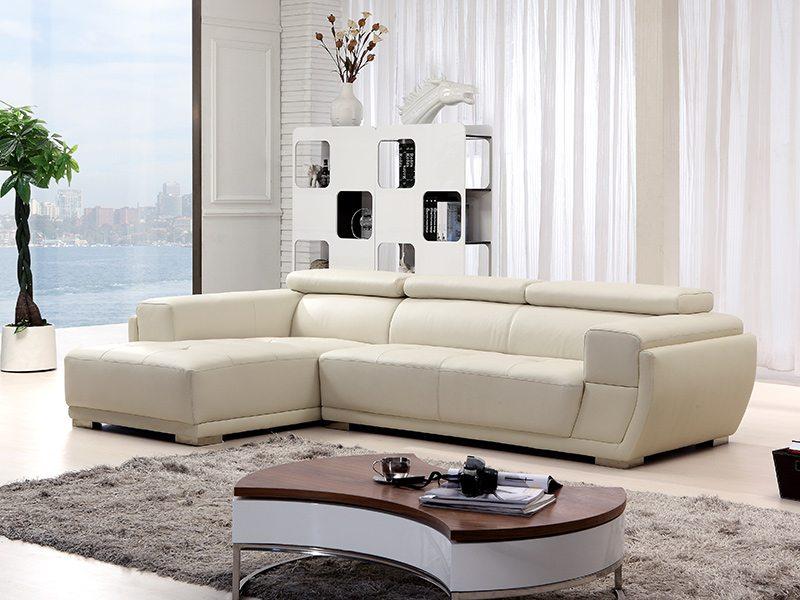 瑞爾L型簡約皮沙發
